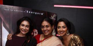Aadai Movie Celebrities Show held at Chennai. Amala Paul, Ramya Subramanian, Ananya Ramaprasad, Rathna Kumar, Uma Padmanabhan, Riythvika,