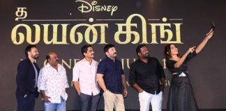 The Lion King Pre Release Event held at Chennai. Arvind Swami, Siddharth, Singam Puli, Robo Shankar, Bikram Duggal at the event.
