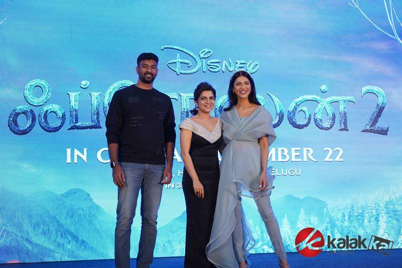 Frozen 2 Tamil Trailer Launch Stills