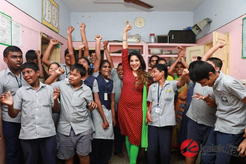 Actress Sakshi Agarwal Visits Autism Affected Children Home