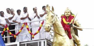 TN CM Respect to Dheeran Chinnamalai Statue