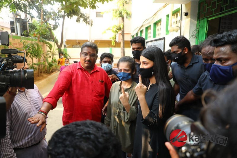 Celebrities casting vote in TN Elections 2021