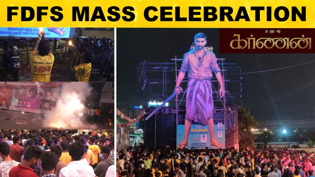 Karnan FDFS Mass Celebration At Rohini Theater
