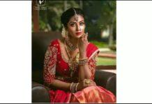 Bharathi Kannamma Roshini in Marriage Getup