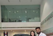 Manimegalai With New Car