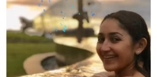Actress Sayyesha in Swimsuit Photos