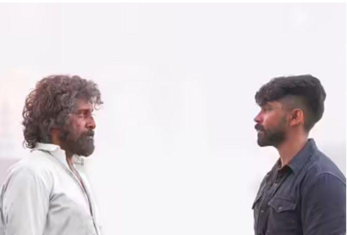 Vikram and Dhruv in Mahaan Movie Getup