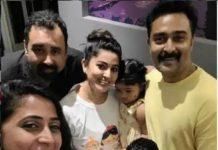 Actress Kanikha Selfie With Sneha Family
